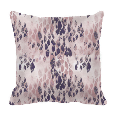 "20"" Pillow Cover - ""Diver"" in Mauve and Charcoal"