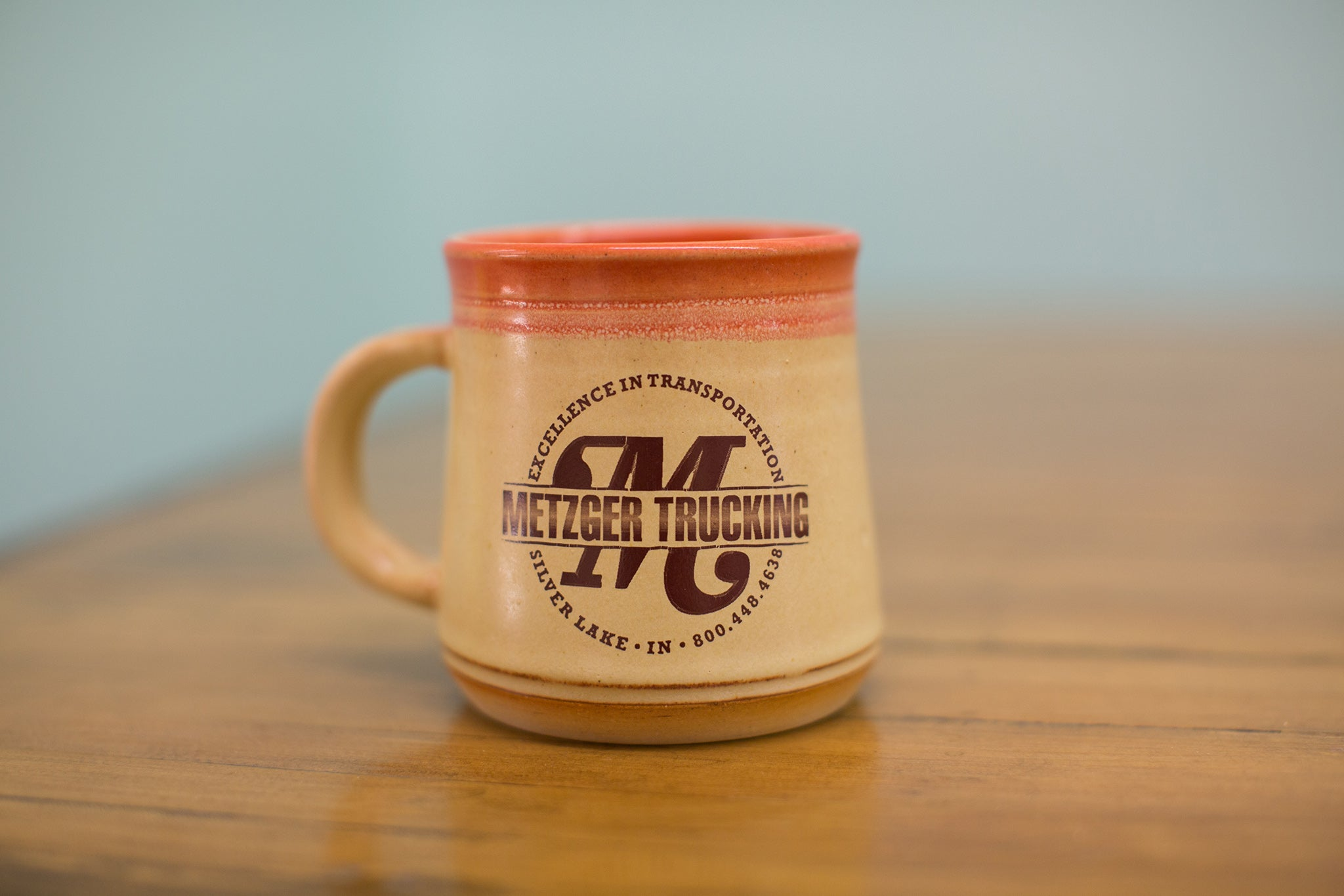 Metzger Trucking custom mug