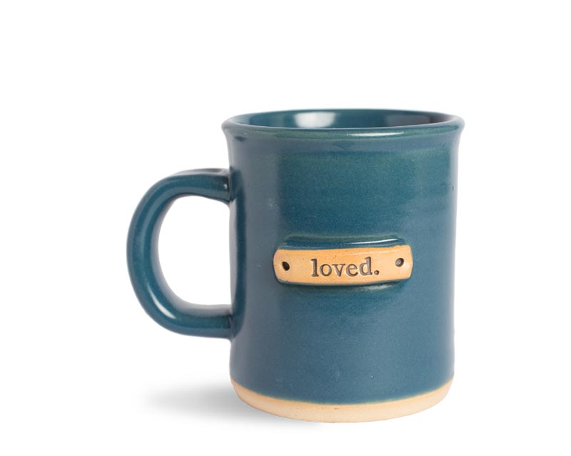 web mug banded loved product almost_teal single