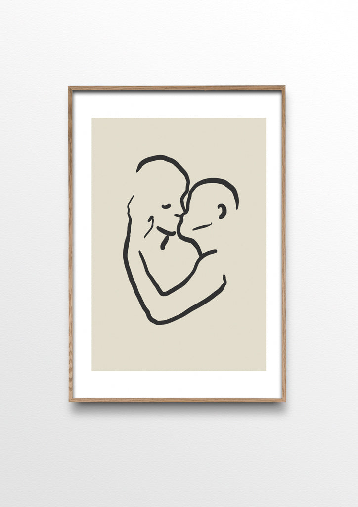By Garmi Kiss poster. Couple kissing art poster