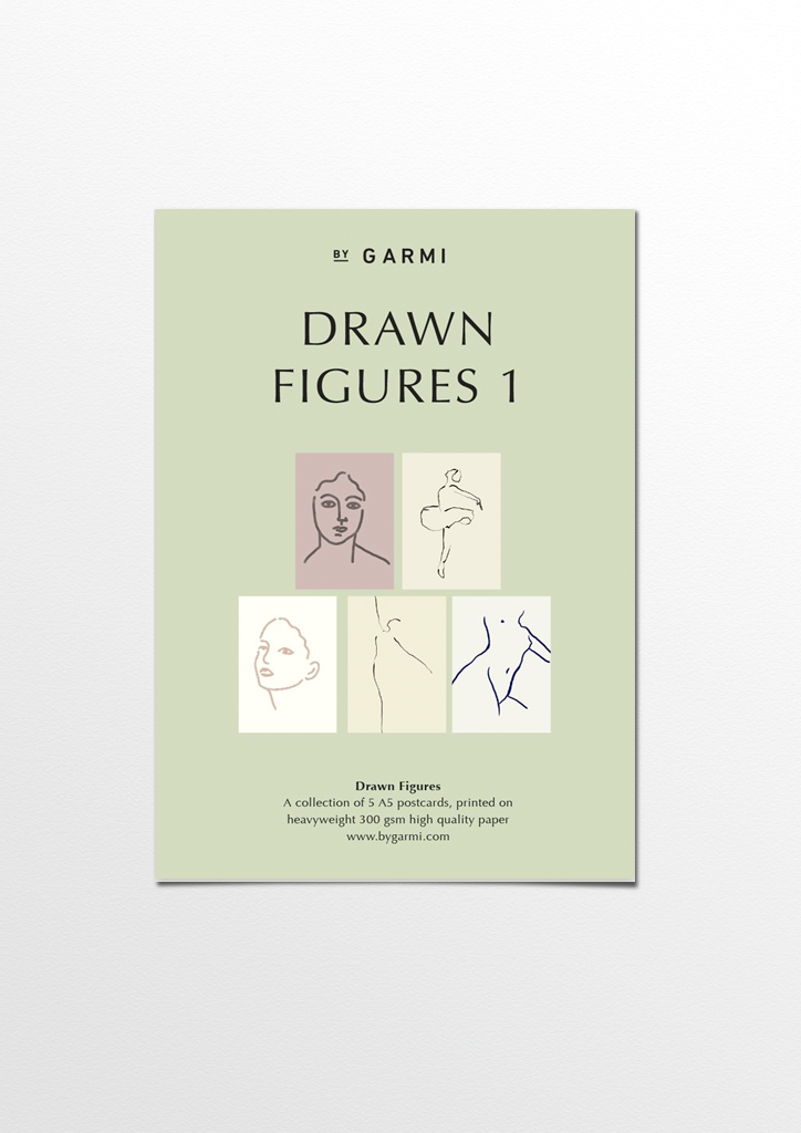 Drawn Figures postcard pack 1