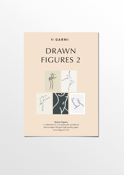 Drawn Figures postcard pack 2