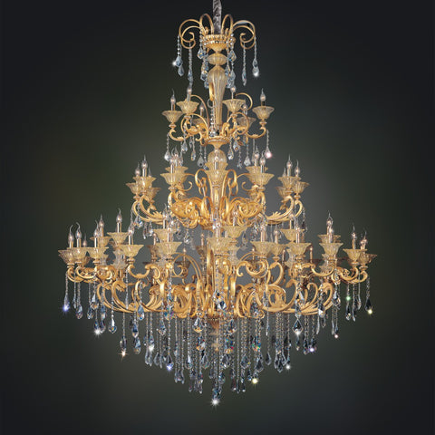 Legrenzi 66 Light Chandelier W/ Antique Silver Leaf