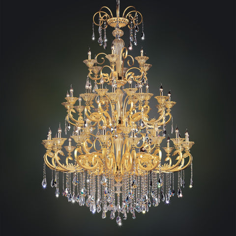 Legrenzi 48 Light Chandelier W/ Antique Silver Leaf
