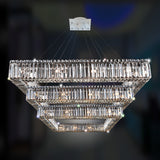 Quadro 35 In. Square 3-Tier Pendant
