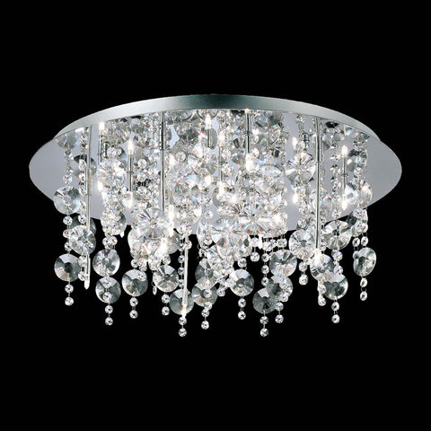 Galassia Collection, 18 or 24 light Flush Mount