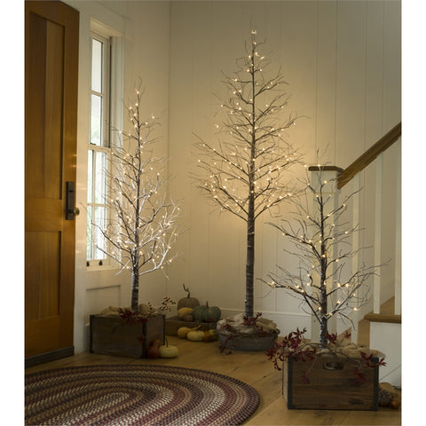 Indoor/Outdoor Snowy Lighted Tree with 96 Lights, 6'H