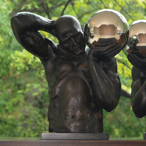 Shot Put Sculptures (Left and Right)