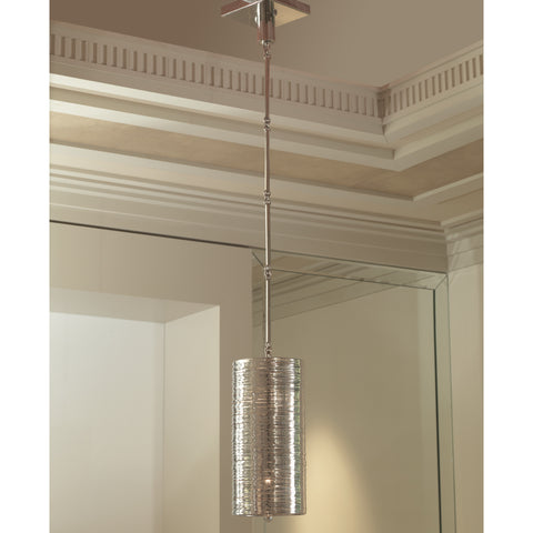 Coil Single Pendant-Polished Nickel Finish