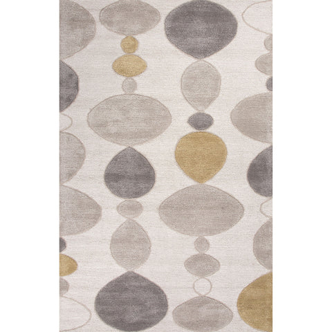 Blue Collection Creekstone Rug in Moonbeam & Pumice Stone