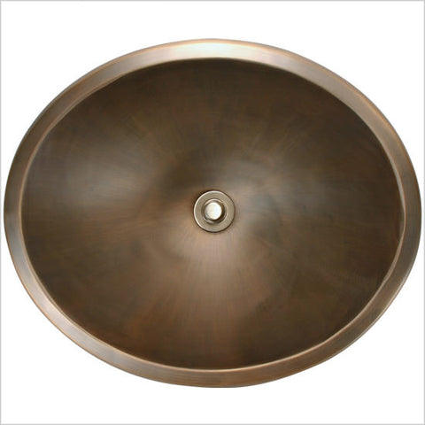 Bronze Oval Smooth Sink