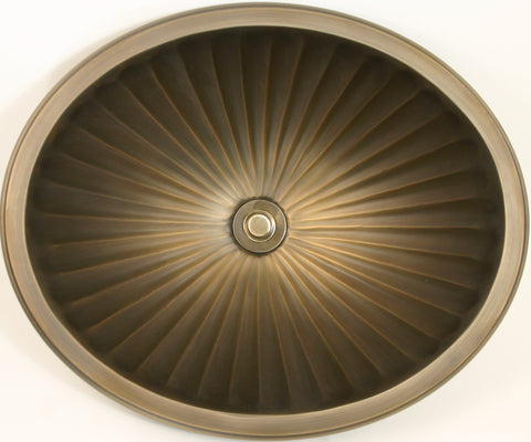 Bronze Oval Fluted Sink