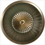 Bronze Round Flat-Bottom Fluted Sink