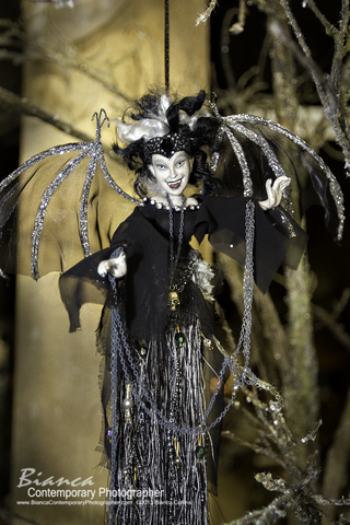 Katherine's Collections Lady Vampire Bottle Cover or Tree Ornament