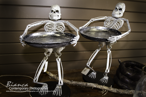 Halloween Skeleton Plate Holders - Each