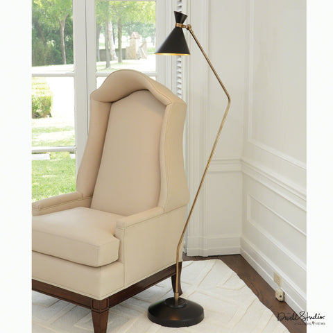 Cone Floor Lamp-Bronze/Brass