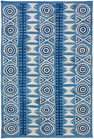 Flatweave Collection Andalusian Rug in Denim Ver. 2