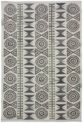 Flatweave Collection Andalusian Rug in Neutral Ver. 2