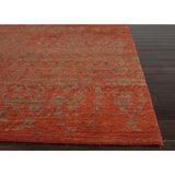 Geode Collection Scroll Rug in Rust & Burnt Olive