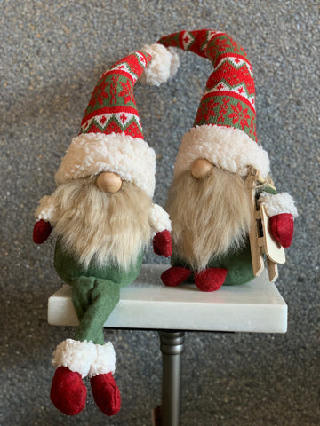 SET OF 2 RED AND GREEN GNOMES