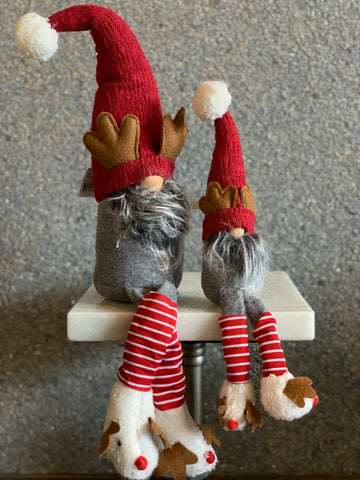 Set of 2 Gnomes with Antlers