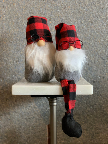 SET OF 2 GNOMES WITH GLASSES