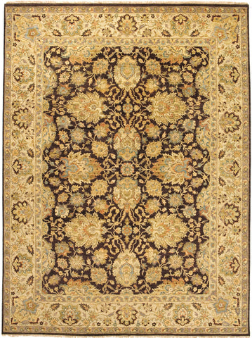 Jagapatti Collection Agra Rug in Brown/Gold