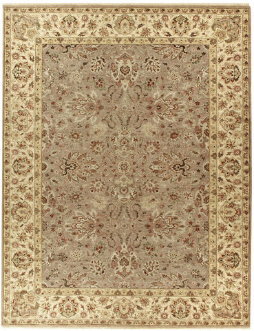 Jagapatti Collection Agra Rug in Taupe/Ivory