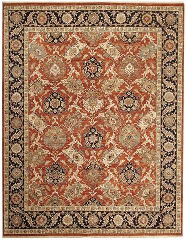 Jagapatti Collection Bakshaish Rug in Rust/Navy
