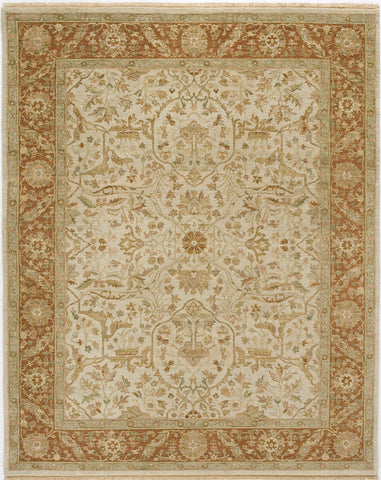 Jagapatti Collection Bidjar Rug in Ivory/Bronze