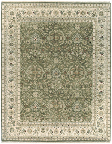 Jagapatti Collection Kirman Rug in Olive/Ivory