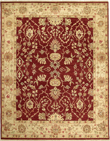 Jagapatti Collection Lilihan Rug in Garnet/Soft Gold