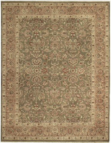 Jagapatti Collection Mahal Rug in Sage/Pink