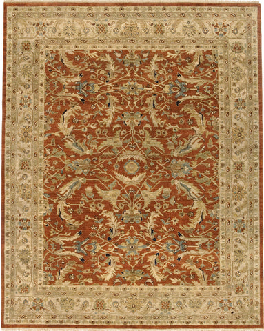 Jagapatti Collection Mehraban Rug in Brick/Cream