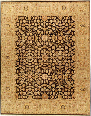 Jagapatti Collection Meshed Rug in Black/Sage