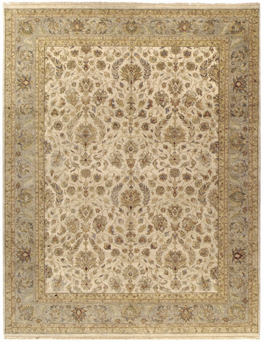 Jagapatti Collection Nain Rug in Ivory/Light Green