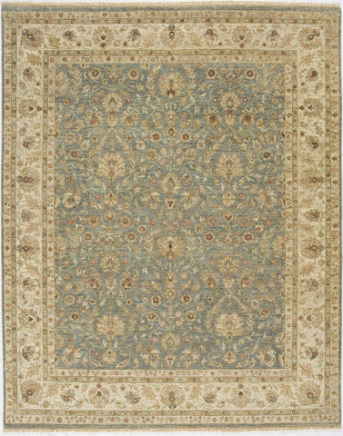 Jagapatti Collection Nain Rug in Light Blue/Ivory