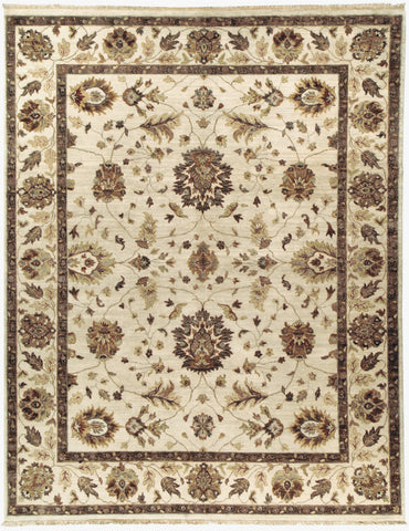 Jagapatti Collection Oushak Rug in Ivory/Ivory