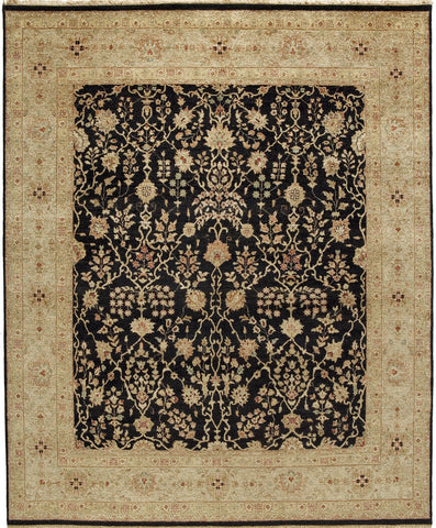 Jagapatti Collection Sarouk Rug in Black/Gold