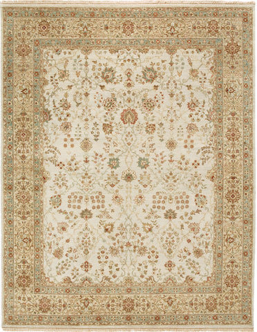 Jagapatti Collection Sarouk Rug in Ivory/Beige