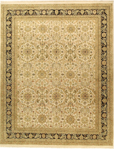 Jagapatti Collection Sultanabad Rug in Ivory/Black