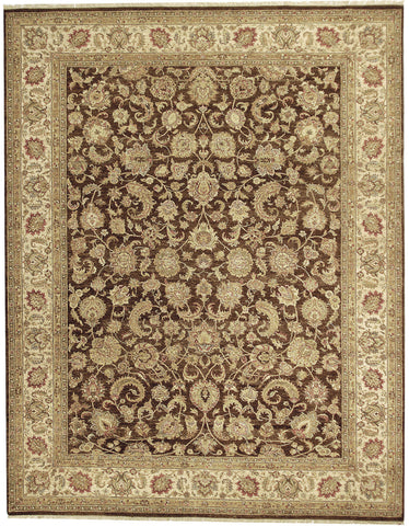 Jagapatti Collection Yezd Rug in Brown/Cream