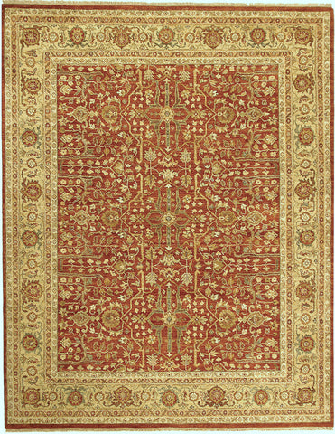 Jagapatti Collection Ziegler Rug in Rust/Gold
