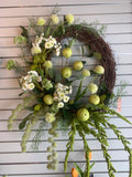 Large Green Spring Wreath