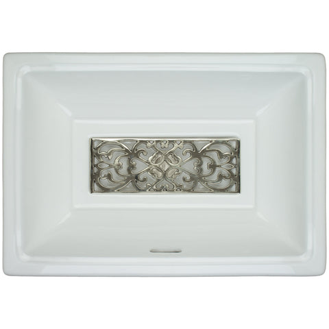 Tiffany Sink in White Porcelain with drain cover