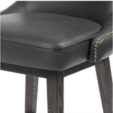 JULIE SWIVEL COUNTER STOOL-DISTRESSED BL