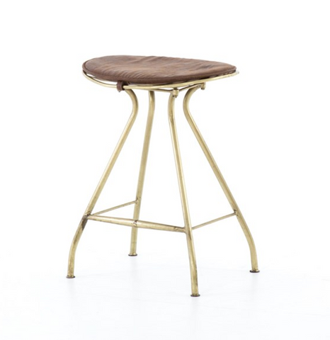 RYDER COUNTER STOOL-ANTIQUE BRASS