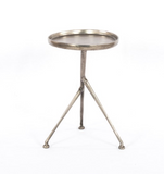 SCHMIDT ACCENT TABLE-RAW ANTIQUE NICKEL