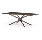 "SPIDER DINING TABLE 94""-ENGLISH BRWN OAK"