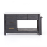 IAN KITCHEN ISLAND-BLACK ACACIA